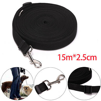 "Dog Pet Puppy Training Lead Leash 50ft 15m Long Obedience Recall 1"" wide"