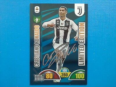 Calciatori Panini Adrenalyn 2018-19 2019 Limited Edition Ronaldo Autografata