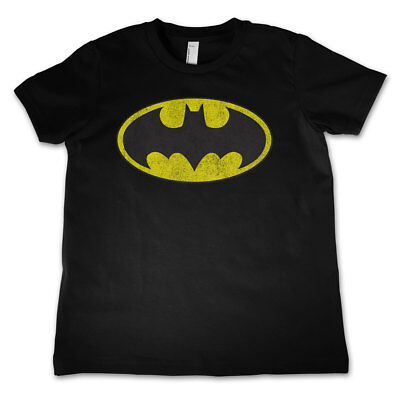 Official Licensed Batman Distressed Logo Kid's Unisex T-Shirt Ages 3-12 Years