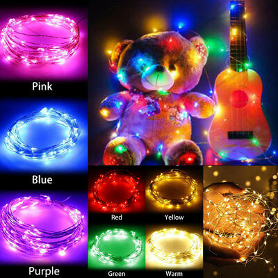 1-10M Copper Wire LED String Lights For Garland Fairy Christmas Tree Party Decor