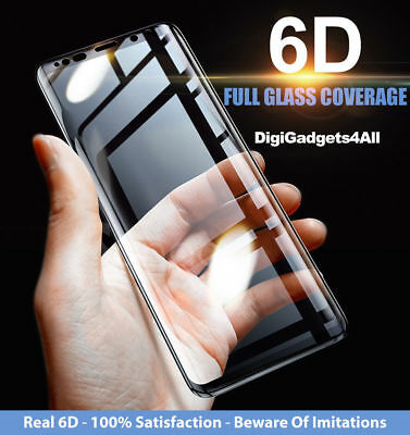 6D Screen Protector For Samsung Galaxy S8 S9 Plus Note 9 / 8 Best Tempered Glass