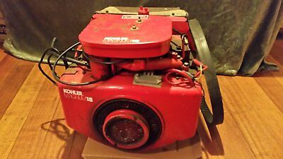 18HP Kohler twin cyl engine with variable speed clutch
