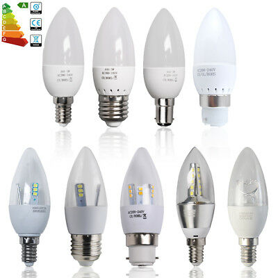 12/6x 3W 5W 6W 8W E14 E27 B15 B22 SES/ES/BC/SBC LED Candle Bulbs Conical Lamp UK