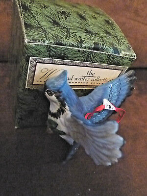 Russ Woodland Winter Collection Porcelain Hanging Bird Ornament