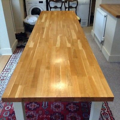 very large solid oak top, pitch pine base  kitchen  table/dinning