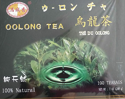 Oolong Tea 100x Teabags Bags Chinese Healthy Skin Diabetes Anti-Cancer Remedy