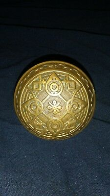 Antique Vintage Solid Brass Victorian Door Knob - Decorative Ornate - 2 1/4""