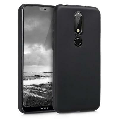 CUSTODIA COVER per NOKIA X6 2018/6.1 PLUS NERO/BLACK +PELLICOLA VETRO TEMPERATO