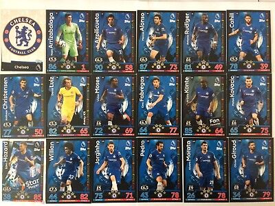 Match Attax 18/19 Chelsea  #91 - #108 Buy 3 Get 7 Free