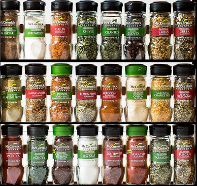 McCormick Gourmet Herbs, Spices & Seasonings: Allspice Greek Ginger Saffron Mint