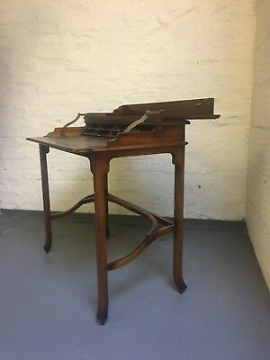 Beautiful Acadia wood campaign writing desk by Theodore Alexander