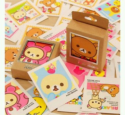 40pcs Rilakkuma Paper Mini Post Greeting Cards