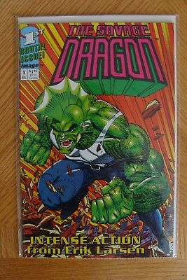 The Savage Dragon Intense Action #1 Jul 1992 Image Comic First Brutal Issue