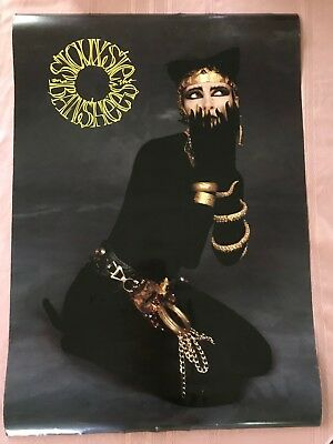 """RaRe. vintage Siouxsie and the Banshees poster 23x33"""" music punk alt rock (1989)"""