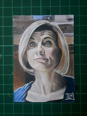 "Doctor Who 13th Doctor ACEO Sketch Card 2.5"" X 3.5"" by Lloyd Mills"