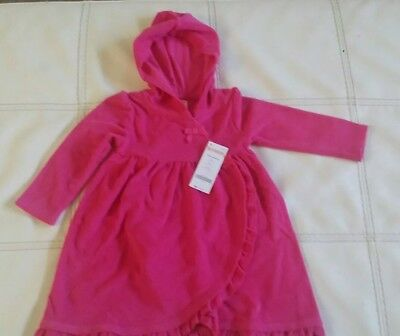 NWT.  Gymboree Pink Terry Hooded Swim Cover up Size ( 2T )