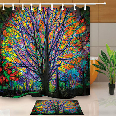 Tree Of Life Shower Curtain Bathroom Decor Fabric 12hooks 7171inches Custom