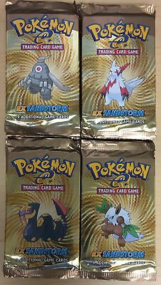 Pokemon EX Sandstorm Factory Sealed Booster Pack Lot of 4 - 1 of Each Art - QTY