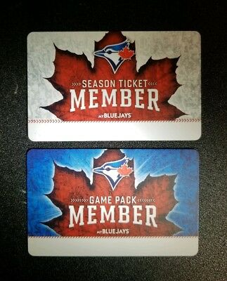 2017 Toronto Blue Jays Ticket Member and Game Pack Cards