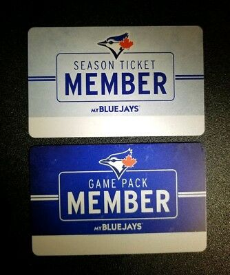 2018 Toronto Blue Jays Ticket Member and Game Pack Cards