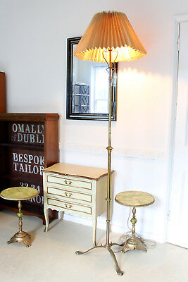 Antique Victorian Brass Floor Lamp TALL Rise and Fall Adjustable Standard Lamp