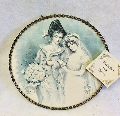 Victorian Chimney Flue Cover Couple With Child. Original Tags Gallery Graphics