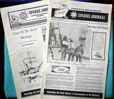 """Lot of 2:Vintage """"Sparks Journal: Legends of Wireless Pioneers"""" Newsletters  QSL"""