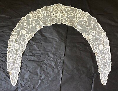 Vintage Lace Collar - Off White/Cream/Ecru Color