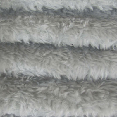 "1/6 yd 340H Soft Blue INTERCAL 5/8"" Med. Dense Heirloom Finish Mohair Fur Fabric"
