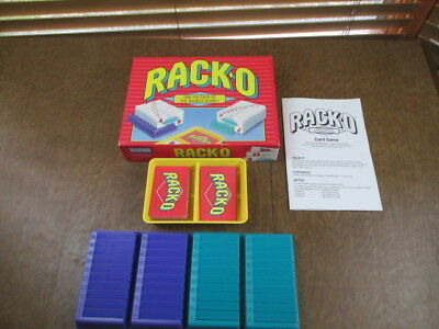 Racko Card Game Vintage 1997 Parker Brothers Racks And Cards