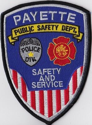 Payette Public Safety Dept. Police Patch Idaho ID