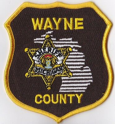 Wayne County Sheriff Michigan MI Police patch