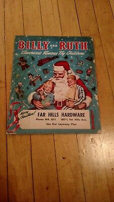 """Vintage 1949 Billy and Ruth """"America's Famous Toy Children"""" Christmas Catalog"""