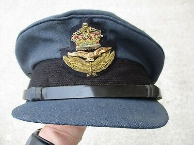 British Royal Air Force (RAF) Blue Wool Visor Hat, Large Size 7 & 1/2