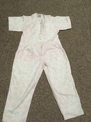 Vintage Mothercare Tykes Girl Pink Floral Playsuit Jumpsuit Romber Age 4-5 110cm