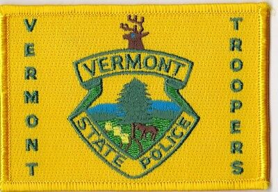 Vermont State Troopers VT Vermont Police patch