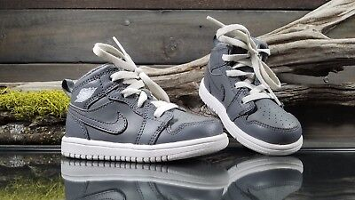 official photos d0015 16543 Nike Air Jordan Retro 1 Mid Flex Baby Toddler Sz 6C US Gray 554727-003