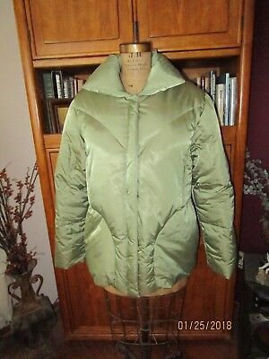 Essential Olive Green German Made Goose Down Winter Jacket, EU Sz 44, US Sz M/L