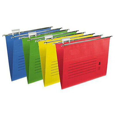 Heavy Duty Foolscap Suspension Files With Tabs /inserts 50/100 Pack Many Colours