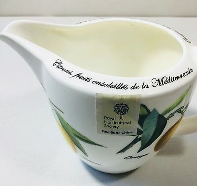 Queens Fine Bone China Fruits Du Soleil Royal Horticultural Society Creamer NWT