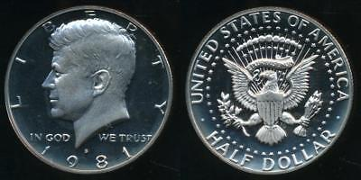 United States, 1981-S Half Dollar, Kennedy (type 1) - Proof