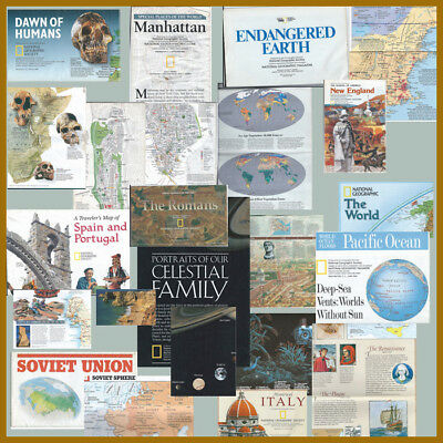 National Geographic Society Maps & Info 1988 - 1997 - FREE SHIPPING BIN