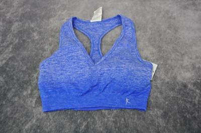 a85c1f4f20 Danskin Now Womens Stretch Racerback Sport Bra Size S (4-6) Blue