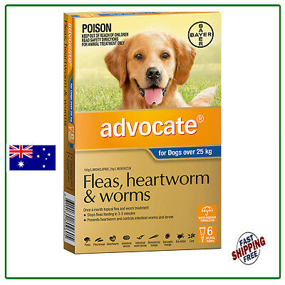 Advocate Flea & Worm Control for Dogs over 25kg - 6 Pack