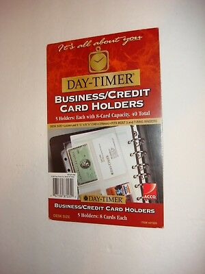 Day-Timer Business Credit Card Holders for Looseleaf Planners, 5 1/2 x 8 1/2,