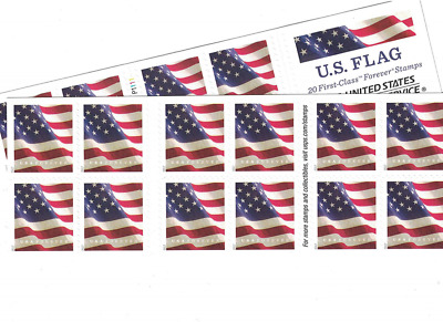US Flag USPS Forever Stamps - 40 (two books of 20)