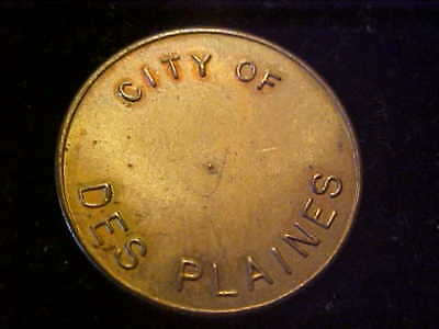 DES PLAINES IL PARKING TOKEN 3205 Ab 23 MM BRASS # E-2-Z