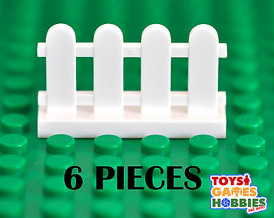 *NEW* LEGO 6x White Picket Fence Pieces- Farm House City Creator Yard Building