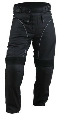 Men Motorcycle OverPants Black with Removable CE Armor OP-1