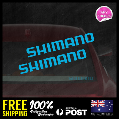 2X SHIMANO MEDIUM Decal 145X19mm Fishing Bike Sticker Vinyl JDM Window Laptop
